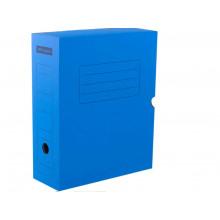 Архивный короб с клапаном 100 мм, микрогофрокартон СИНИЙ 900л Office Space