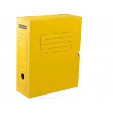 Архивный короб с клапаном 100 мм, микрогофрокартон ЖЕЛТЫЙ 900л Office Space