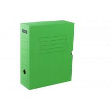 Архивный короб с клапаном 324*262*100 мм, микрогофрокартон зеленый Office Space