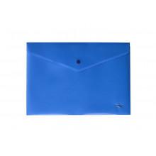 """Папка на кнопке A4 """"Hatber"""" 180мкм синяя (со штрихкодом)"""