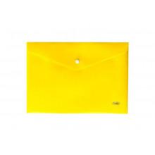 """Папка на кнопке A4 """"Hatber"""" 180мкм желтая (со штрихкодом)"""