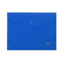 """Папка на кнопке А5 """"Hatber"""" 180мкм синяя 243*210мм"""