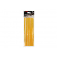 "Клей термо "" Tundra basic"" D 11*200 мм, (6шт) желтые, бумага/дерево"
