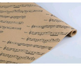 Бумага  упаковочная крафт 0,7*10м, Мелодия души