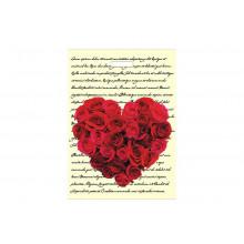 """Пакет п/э """"Сердце из роз"""" с вырубной ручкой 30*40см 40мкм"""