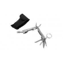 Инструмент многофункциональный 6в1 в чехле, корпус металлик