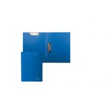 Папка с 2-мя мет. прижимами BRAUBERG синяя до 100 л