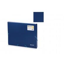 Папка-короб на резинках BRAUBERG 30мм синяя 0,7мм
