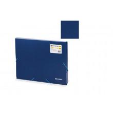 Папка-короб на резинках BRAUBERG 50мм синяя 0,7мм