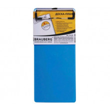 Планшет А6 (для счета) 10х22,8 см, пластик,  синяя  BRAUBERG