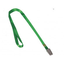 Лента для бейджей BRAUBERG 45см мет клип, зеленая