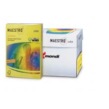 Бумага Maestro Color А4 п160  инт. канареечно-желтая, CY39
