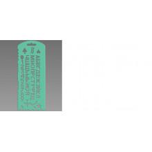 Трафарет буквы и цифры с 13 символами зел. Стамм