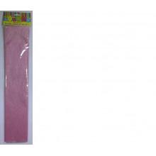 Бумага Креп перламутр розовая 22г/м2 50*250 см 1 лист Феникс