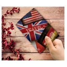 """Обложка д/паспорта """"Флаги"""" (13,3*19,1см) из ПВХ Феникс"""