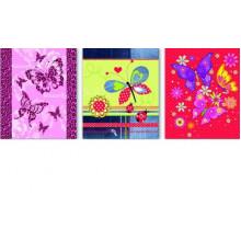 Обложка для тетрадей 355*213мм, 0.10мм (3шт) Бабочки Феникс
