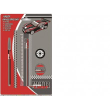 Набор канцелярский (1ручка, ластик 35мм, точилка, линейка 15см, черногр.карандаш НВ)