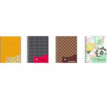 """Зап. кн. """"Ноутбук А5 120л.с разд. # Феникс на кнопке пласт. обложка"""