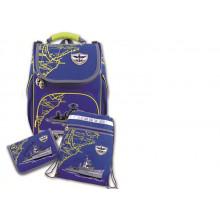 Набор школьника (ранец, пенал, мешок д/обуви) 39932 ВОЕННЫЙ КОРАБЛЬ Феникс
