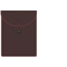 Папка на резинке-застежке А вертикальная пласт. БОРДО