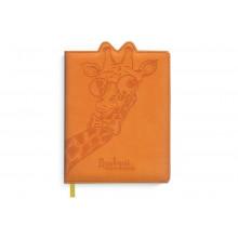 Дневник школьн. ЖИРАФ А5 96л. офсет, искусств.кожа, вырубка фиг., тиснен Феникс
