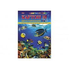 """Картон цв. А4 10л. 10цв. """"Hatber""""  двухсторон. """"Подводный мир"""""""