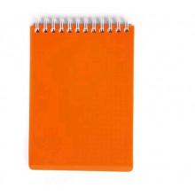 Блокнот А6 80л DIAMOND NEON Оранжевый, пластик. обл., на гребне Hatber