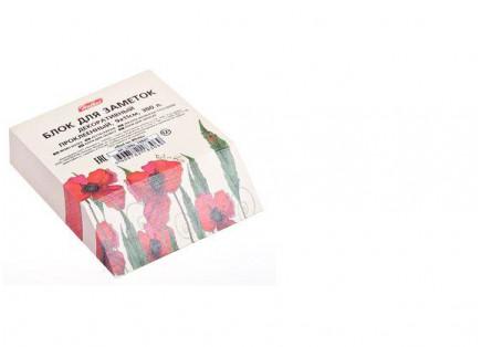 Бумага д/зап. цветная 92*110мм на клею, кос.срез Red and White  Hatber