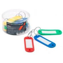 Брелок-индификатор  12шт 21*60 д/ключей пластик цветные