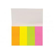 Закладки самокл. бумажный  20*50мм,4 цв*50шт Centrum