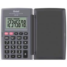 Калькулятор UNIEL карманный UK-08Н серый, 8 разр. 104*62,8*10,5 мм