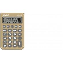 Калькулятор UNIEL карманный UK-10BG 8 разр  94x62x11 мм