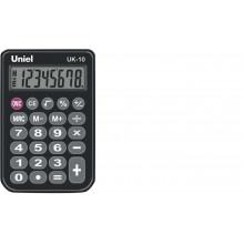 Калькулятор UNIEL карманный UK-10K 8 разр 94x62x11 мм