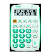 Калькулятор UNIEL карманный UK-11В,8 разр.97*62*11мм, бирюза