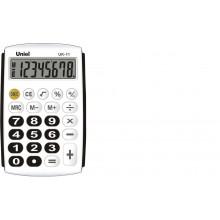 Калькулятор UNIEL карманный UK-11K 8 разр, 97*62*11мм чёрный