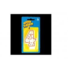 """Свеча праздничная цифра """"4"""" 7,6см"""