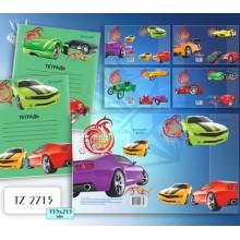 Обложка для тетрадей  355*215  TZ2715 с рисунком машины
