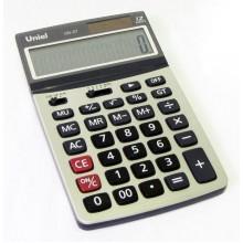Калькулятор UNIEL настольный средн. UD-37 12 разр. 180*108*32мм серебро