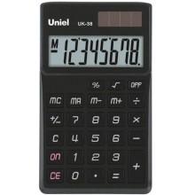 Калькулятор UNIEL карманный UK-38K  8 разр, 97*62*11мм чёрный