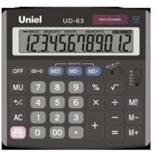 Калькулятор UNIEL настольный средн. UD-63 12 разр. 145*139*30