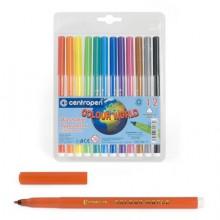 Фломастеры 12цв. 7550/12 смываемые Colour World  Centropen в блист.