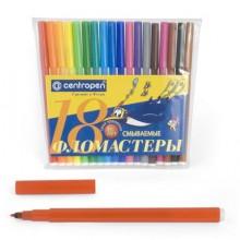 Фломастеры 18цв. 7790/18 ПИНГВИНЫ, СЛОНЫ  Centropen в пласт. упаковке