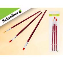 Кисти в наборе нейлон 3шт. №1,3,5  круглые/плоские, Schreiber